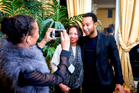 John Legend attends a fundraiser at Gloria Steinem's home for A Long Walk Home.