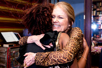 Gloria Steinem hosts a fundraiser for A Long Walk Home.