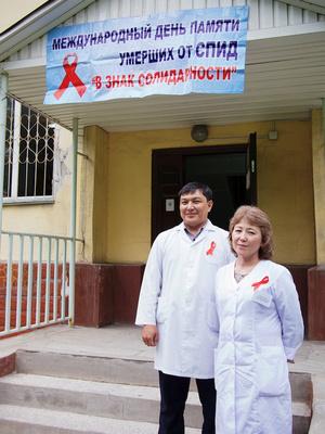 AIDS Memorial Day 2015 in Almaty, Kazakhstan